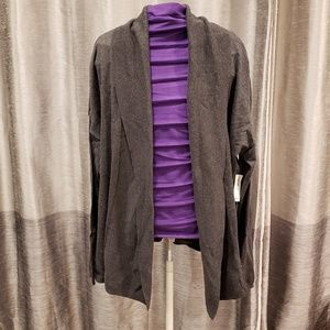 Old Navy Grey Open Front Cardigan - Size XL